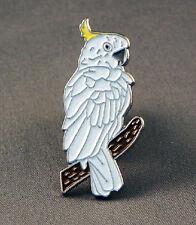 Metal Enamel Pin Badge Brooch Cockatoo Cockatiel Parrot Bird