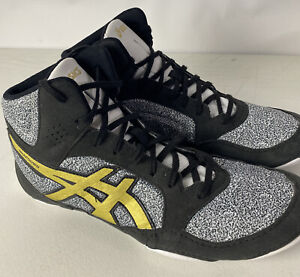 Asics Snapdown 2 Wrestling Shoes 1081A027 Gray Gold Sz 11 Sneakers Mint Preowned