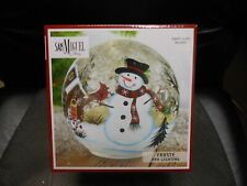"San Miguel Holiday ""Frosty"" Glass Orb Lighting 6X6"" Includes 10 LED Lights"