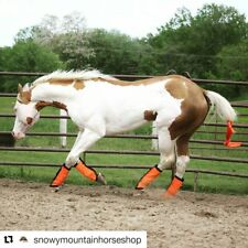Fly Protection Leg Wraps/Leggings For Horses, Straight Fly Boots Set Of 4,Orange