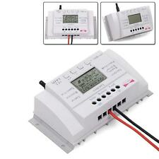 3PCS 40A 12V/24V MPPT LCD Solar Panel Regulator Charge Controller 3 Timer+USB BT