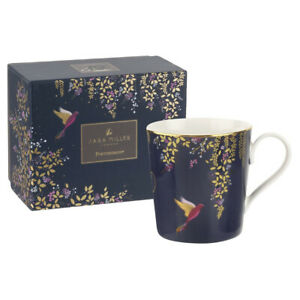 Sara Miller Chelsea Collection Navy Hummingbird Mug Gift Boxed