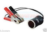 DURITE 0-601-91 CIGARETTE LIGHTER SOCKET 250MM CABLE CROCODILE CLIPS 8 AMP 12V