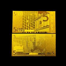 EUROPEAN BANKNOTE 5 EUROS GOLD 24K