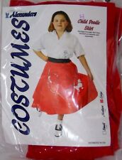 Child Large 10 Red Poodle Skirt Sock Hop Halloween Costume Grease Dance Party