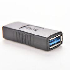 USB 3,0 un adaptador convertidor hembra a hembra conector cable de acoplamiento