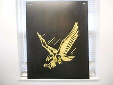 """Gold Soaring Eagle 24"""" x 30"""" One Poly Mud Flap 3/16"""""""