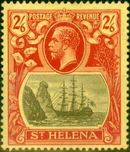 St Helena 1922 2s6d Grey & Red-Yellow SG94 Fine Mtd Mint