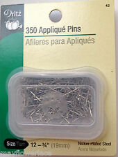 "350 Appliqué Pins 3/4"" Nickel Plated Steel for Milanese Tape bobbin lace"