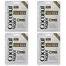4x Coconut Foot Pack Hydrating Moisturizing Spa Dry Crack Callus Feet Treatment