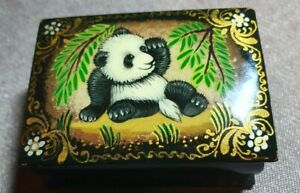 Panda (Baby) Russian Storage Box Hand Painted Picture New Nice item