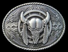 Cool Cow Steer Texas Longhorns Western Belt Buckles Boucle de Ceinture