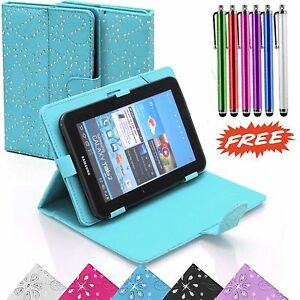 """Bling Case Cover For Lenovo Tab A10 A7600 & Tab 2 A10-70 10.1"""" Inch Tablets +Pen"""