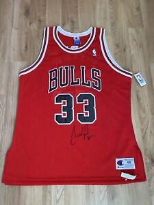 SCOTTIE PIPPEN SIGNED CHICAGO BULLS AUTHENTIC '90s CHAMPION NBA JERSEY AUTOGRAPH