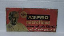 Vintage Old Rare ASPRO Advertising Sign Board