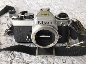 Nikon FE Camera Chrome Body Used Condition Ex++ W/ Strap & original instructions