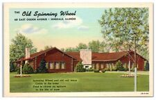 Mid-1900s The Old Spinning Wheel, 421 East Ogden Ave, Hinsdale, IL Postcard