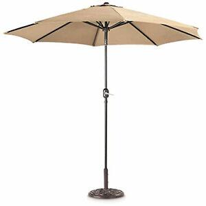 CASTLECREEK 9 Ft Market Patio Umbrella with Crank Open System & Push Button Tilt