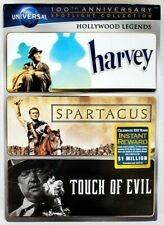 Harvey/Spartacus/Touch of Evil (3-Dvd,Universal 100th Anniversary Slipcover) New