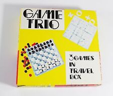 1974 Game TRIO (chess, checkers, tic-tac-toe) Travel Set