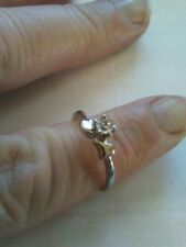 Stainless steel Womens ring Size 6