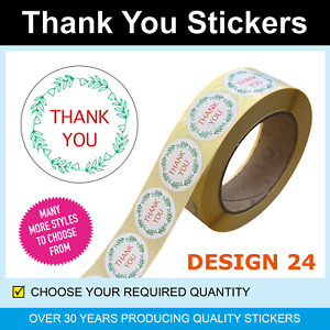 35mm Red & Green Thank You Stickers / Labels - Only for 120