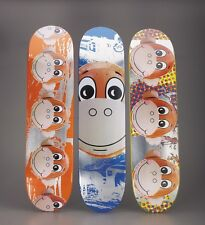 Set of three authentic Jeff Koons x Supreme skateboard deck Hirst Murakami