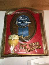 Vintage Nos (2) Pabst Blue Ribbon (Good Old Time Flavor ) Signs 17-3/4�X14-1/2�