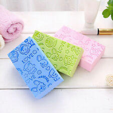 Adult Kid Soft Exfoliating Body Skin Bath Shower Spa Brush Washing Sponge Pad