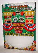 United Star Slugger 2-Player P&B Baseball Arcade Machine Original Backglass