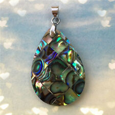 Natural Paua Abalone Shell Pendant Charm Bead For Necklace Jewellry Gift Decor
