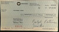 RICHARD GERE RARE ORIG 1985 PERSONAL PAYROLL CHECK FROM WARNER BROS. W/SOC SEC #