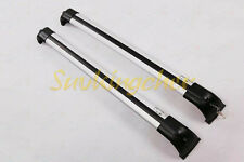 Pair Silver fit Land Rover Discovery LR3 LR4 2004-2015 2016 roof rack cross bar