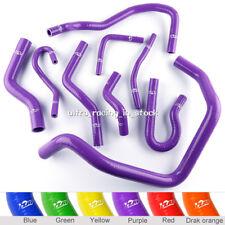 ZAP 9PCS FIT HONDA CIVIC D15 D16 SOHC EG/EK 92-00 Silicone Radiator Hoses Purple
