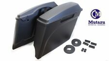 """4"""" Matte Black Extended Touring Hard bags Saddlebags fits Harley HD Stretched"""