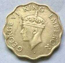 1944 George VI King Emperor 1 ANNA Nickel Brass coin India