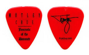 Motley Crue Tommy Lee Signature Journals of the Damned Guitar Pick - 2009 Tour