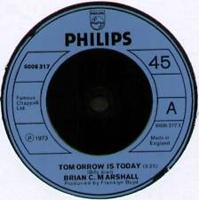 "[BILLY JOEL] BRIAN C. MARSHALL ~ TOMORROW IS TODAY ~ 1974 UK 7"" SINGLE"