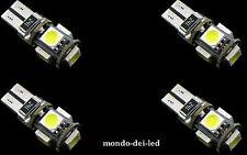 """4x lampada luci posizione t10 hyper led 5 SMD CANBUS NO-ERROR """"ROSSE"""" auto"""