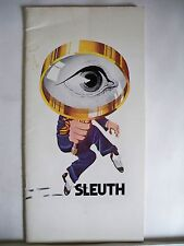 SLEUTH Souvenir Program PATRICK MACNEE / JORDAN CHRISTOPHER NYC 1972