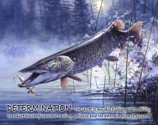 Muskie Fishing Motivational Poster Art Vintage Musky Lures St Croix Rods MVP158