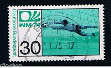 GERMANIA 1 FRANCOBOLLO CALCIO PORTIERE 1974 usato