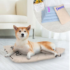 Personalised Dog Bed Mat Soft Cushion Kennel W/ Removable Cover Customized Name