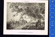 Lovers Interrupt Friar's Mediation - Castres 1890 Litho