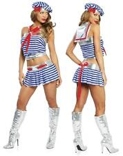 Sailor Girl 3PC M/L 10-12 uk Fancy Dress Hen Night Party Naval JValentine