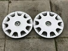 "SKODA OCTAVIA 14"" WHEEL TRIM X 2 GENUINE 1U0601147E"