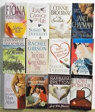 12 Thick MODERN ROMANCE NOVELS Free US S/H Lot #A361 Popular Authors - Read List