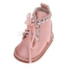 Lovely Pink PU Leather Martin Boots Shoes for 12'' Blythe Doll Clothing