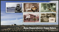 Ross Dependency NZ Stamps 2019 MNH Cape Adare Antarctica Exploration 5v M/S