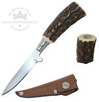 kleines Trennmesser Trachtenmesser mit Hirschhorn-Griff